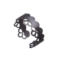 Adjustable lace ring (silver or black)