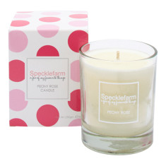Candle in peony rose