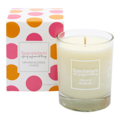 Candle in orange blossom