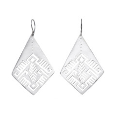 Aztec/Moroccan-inspired silver earrings (various designs)