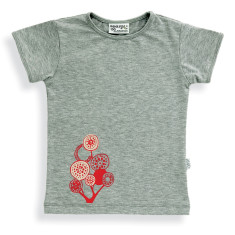 Lollipop tree t-shirt in grey marle