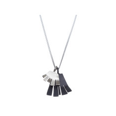 Silver layered fringe necklace (various designs)