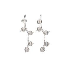 Long berry acorn earrings