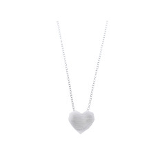 Silver geometric heart necklace
