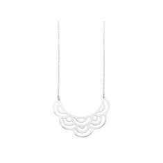 Frilled lace silver necklace (various designs)