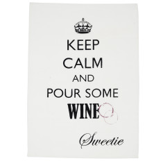 Wine lovers tea towel
