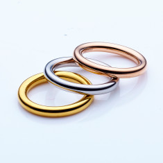Stainless steel stacking ring set in 3mm by Torini