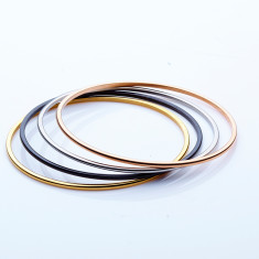 Stainless steel stacking bangle in 2mm by Torini