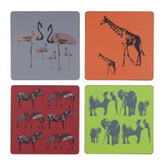 Mixed safari animal coasters (set of 4)