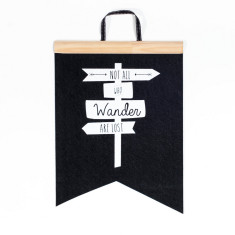 Not all who wander felt flag