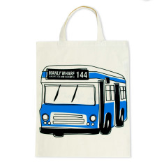 Manly Wharf 144 bus bag in blue