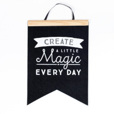 Create a little magic felt flag