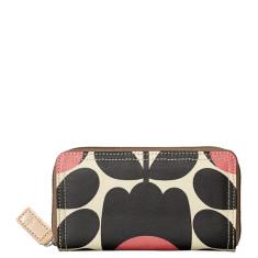 Etc by Orla Kiely big zip wallet in tulip stem jet