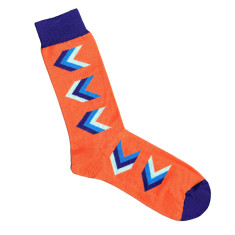 Lafitte orange arrow socks