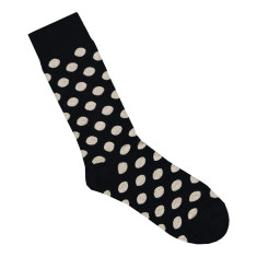 Lafitte black and putty spotted bamboo socks