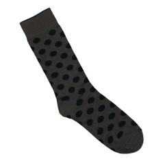 Lafitte spotted charcoal & black bamboo socks