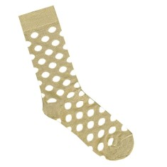 Lafitte bamboo putty and white spot socks