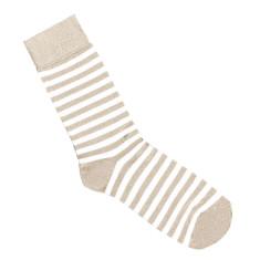 Lafitte putty and white stripe bamboo socks