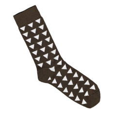 Lafitte chocolate and white triangle bamboo socks