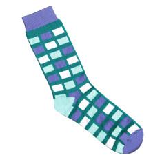 Lafitte teal cube socks