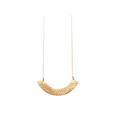 Zigzag textured necklace (various colours)