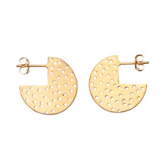 Stunning 3/4 circle studs with dot pattern (various colours)