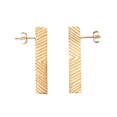 Zig-zag stick earrings (various colours)