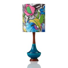 Electra small table lamp in Botanical Poppy