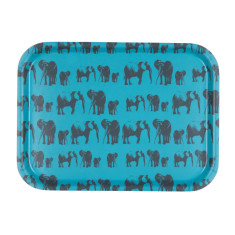 Elephant family medium serving tray