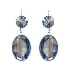 Swarovksi oval shine earrings (various colours)