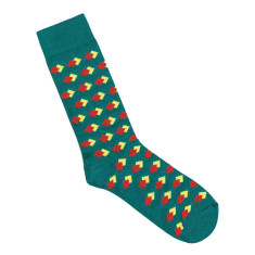 Lafitte teal diamond socks