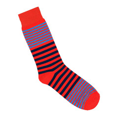 Lafitte red stripe socks