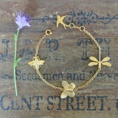 Sadie gold charm bracelet