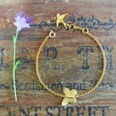 Annie gold butterfly bracelet