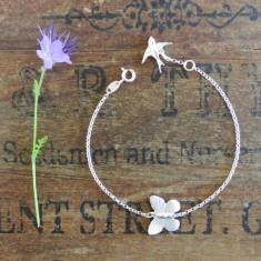 Annie silver butterfly bracelet