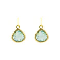 Aqua love earrings