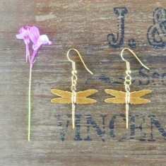 Didi gold dragonfly earrings