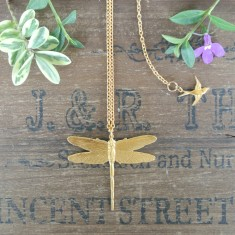 Dana gold dragonfly necklace