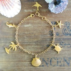 Sandie gold charm bracelet