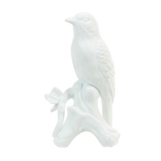 Porcelain white robin bird decoration
