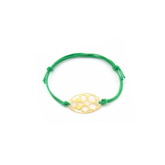 Flower mosaic bracelet