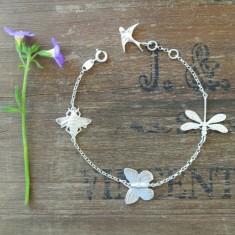 Sadie sterling silver charm bracelet