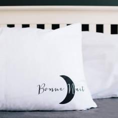 Bonjour or bonne nuit pillowcase