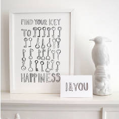 Find your key to happiness print