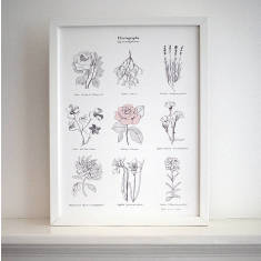 Floriography say it with flowers print