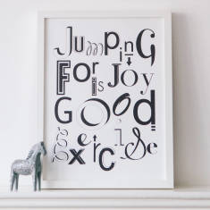 Jumping for joy print