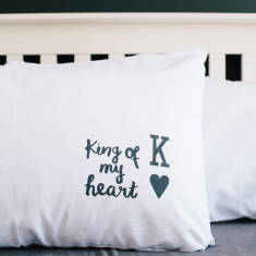 King or queen of my heart pillowcase