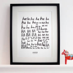 Laughter is the best medicine print