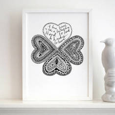 Personalised lucky friend print