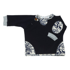 Navy or Cream French terry woodland jumper